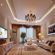 精装法式客厅吊顶设计