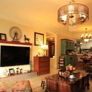 唯美美式客厅装修