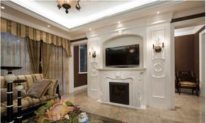 美式别墅客厅电视背景墙效果图