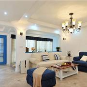 时尚地中海单身公寓装修设计