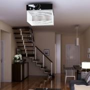 华美跃层式住宅楼梯装修设计