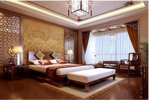 华美中式别墅卧室装修设计