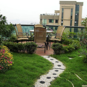 清新中式别墅庭院绿化设计