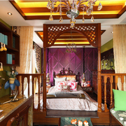 靓丽东南亚别墅卧室装修