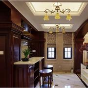 复古美式家庭吧台装修设计