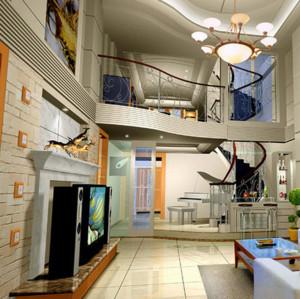 高档复式楼走廊吊顶装修效果图