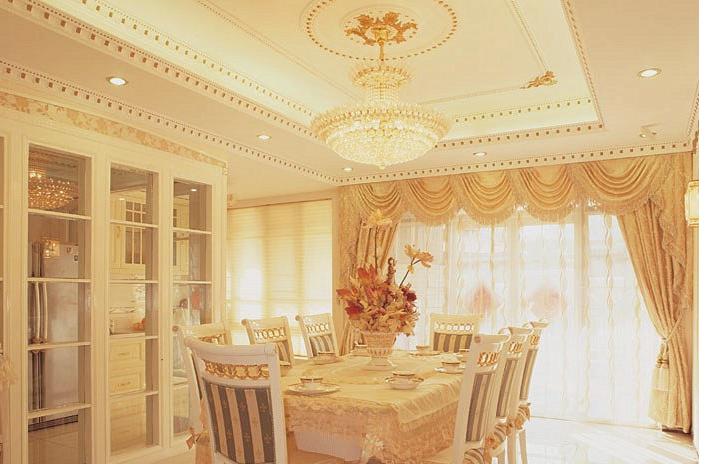 三室二厅 欧式客厅石膏线 装修 效果图 齐装网装