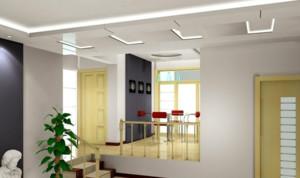 三室两厅两卫错层吊顶造型装修效果图