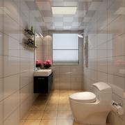 靓丽小面积卫生间装修设计