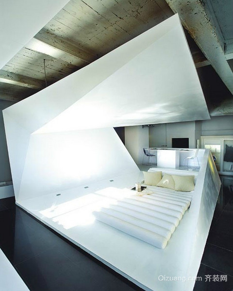 简约时尚复式楼卧室装修设计效果图