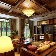 精致东南亚别墅窗帘装修设计