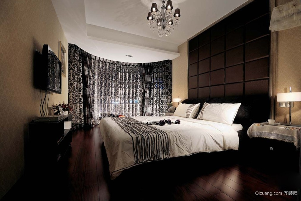 2015全新90m²小洋楼卧室装修效果图