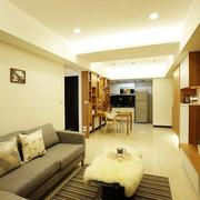 现代简约都市单身公寓素雅客厅