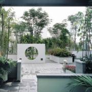 自然中式别墅庭院绿化设计