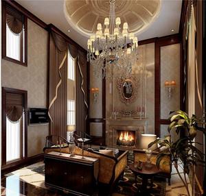 华美美式别墅电视背景墙设计