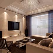 恢弘现代客厅装修设计