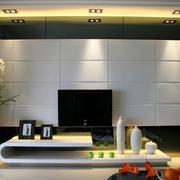 现代大户型客厅电视背景墙装修