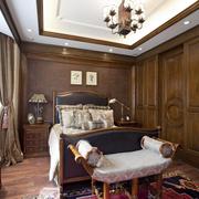 高档美式别墅卧室装修设计