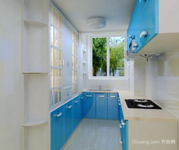 小户型地中海风格开放式厨房装修效果图