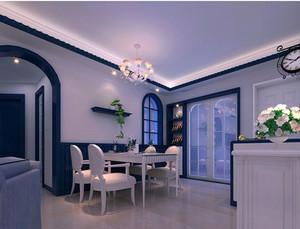 2015全新地中海风格餐馆装修效果图