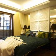 时尚简约东南亚卧室飘窗设计