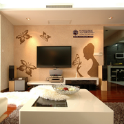 唯美欧式客厅电视墙装修