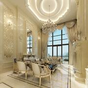 高贵小洋房客厅吊顶装修设计
