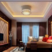 大气中式别墅卧室装修设计