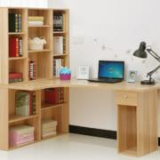 朴实小书房桌柜装修设计