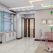 时尚欧式客厅酒柜设计