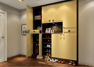 单身公寓时尚室内鞋柜装修效果图