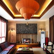 高档三室两厅客厅设计