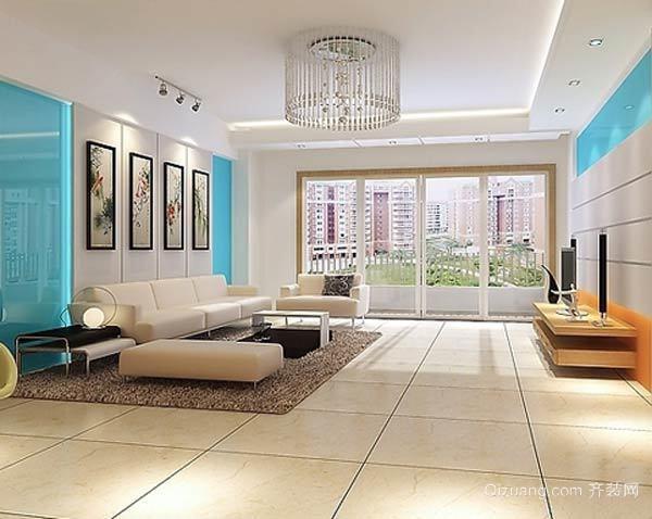 120平米大户型现代客厅电视柜装修效果图