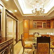 法式奢华餐厅吊顶装修