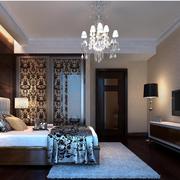 简约中式别墅卧室装修设计