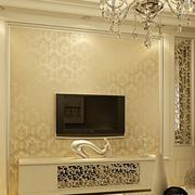 素雅欧式客厅电视墙装修