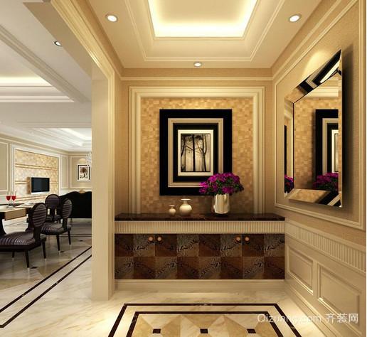 经典单身公寓黑白装饰画装修效果图
