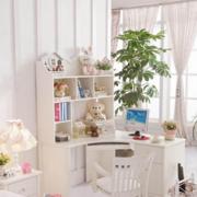 清新儿童房整体书柜装修设计