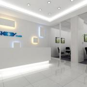 简约办公室走廊吊顶设计