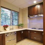 潮流中式厨房橱柜装修设计