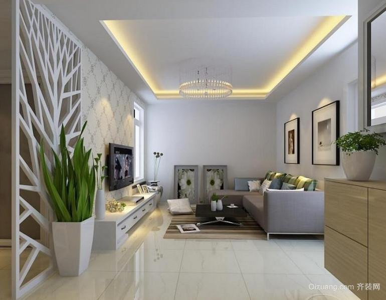 时尚现代的客厅隔断电视背景墙效果图鉴赏