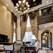 大气美式别墅窗帘设计