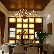 豪华东南亚餐厅吊顶设计