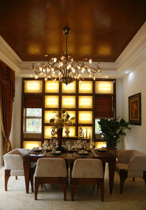 热情豪迈的东南亚风格餐厅吊顶造型装修效果图鉴赏
