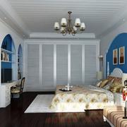 简约地中海卧室背景墙装修