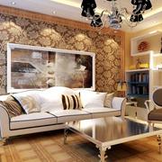 高档欧式别墅客厅沙发墙设计
