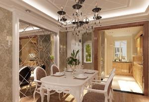 浪漫的欧式餐厅吊顶造型装修效果图大全
