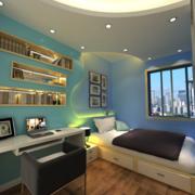 清新复式楼卧室设计