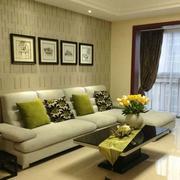 精装欧式别墅客厅沙发墙设计