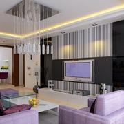 靓丽现代风格客厅设计